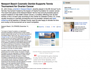 cosmetic, dentist, dentistry, charity, newport, beach, ca