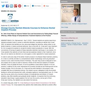 dentist, restorative dentistry, dental implants, Dr. John Cross