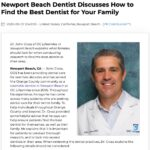 Dentist in Newport Beach offers helpful tips to find the best dentist for your family